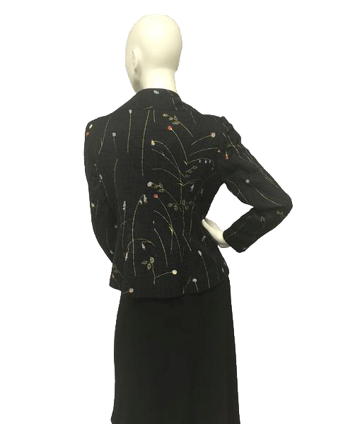 Blazer Black with Flowers Size S SKU 000049