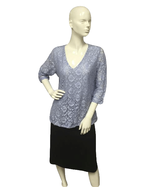 Motto 80's Top Light Blue Lace Size Large SKU 000023