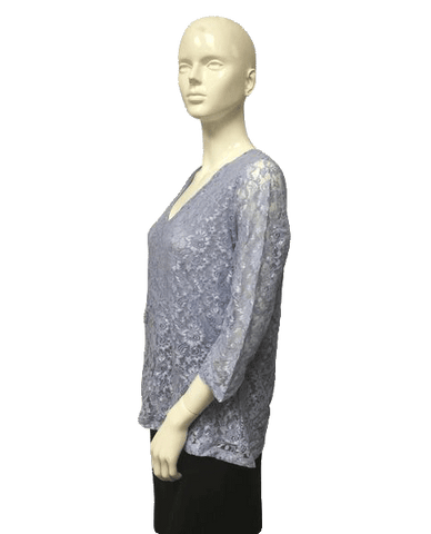 Light Blue Lace Top Size Large (SKU 000023)