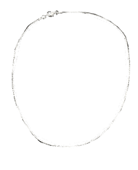 "Necklace Silver 17"" long (SKU 000083)"