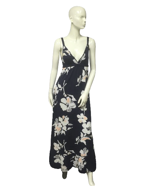 Abercrombie & Fitch Navy Blue Floral Dress Small SKU 000062