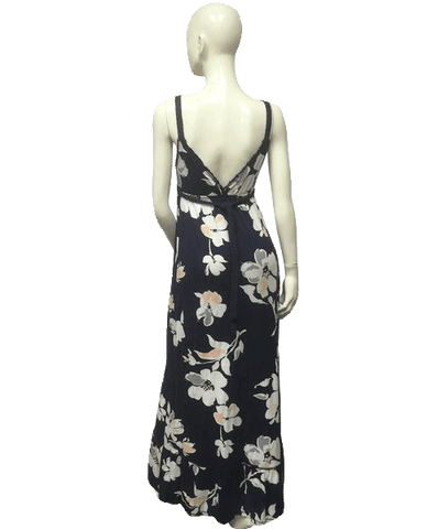 FLORAL DRESS Abercrombie & Fitch Navy Blue Floral Dress Small (SKU 000062)