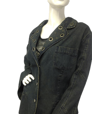 Ashley Stewart Denim Jacket Sz 24W (SKU 000006)