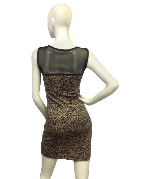 Cheetah Girl Mesh Sexy Dress Size Large  (SKU 000067)