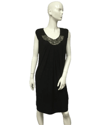 Little Black Beaded Dress Size 24 (SKU 000014)