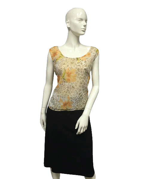 Surreal Happy Leopard Top Size 18 SKU 000096