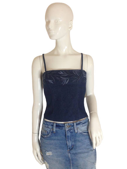 Griffith Gray For St. John Bustier Top Blue Size 4 (SKU 000256-3)