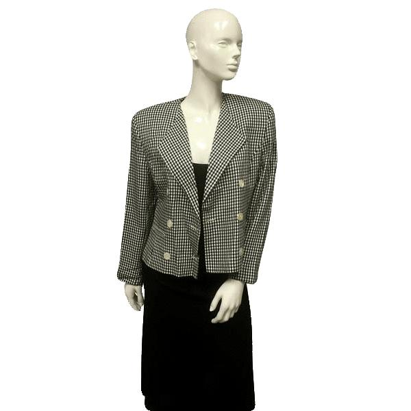Jones New York Checker Board Blazer Size 10 (SKU 000044)