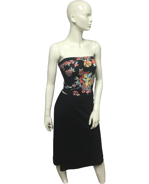 Ambiance Apparel Tube Top Floral Print Strapless Size L NWT SKU 000095