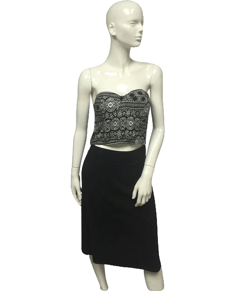 Wet Seal Crop Top Black and White Size XL SKU 000095