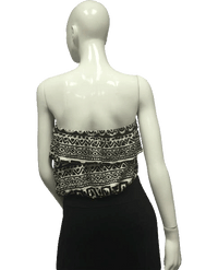 Wet Seal 80's Top Ivory and Black Size M SKU 000095