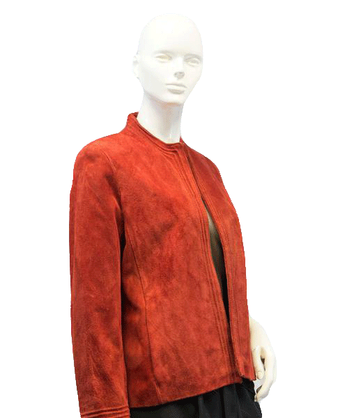 Red Suede Coat Size 12 (SKU 000038)