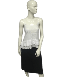 Wet Seal 80's Top White Adjustable Strap Size XS NWT SKU 000095