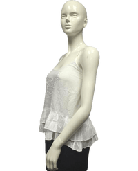 Wet Seal 80's Top White Adjustable Straps Size L NWT SKU 000095