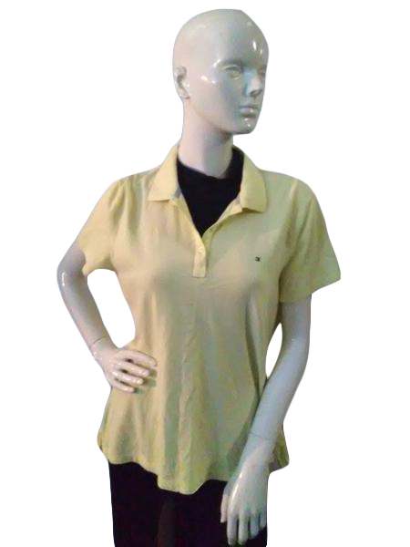 Tommy Hilfiger 80's Polo Shirt Yellow Size XL SKU 000041