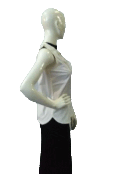 J. Crew White 80's Top Sleeveless Size 0 SKU000041