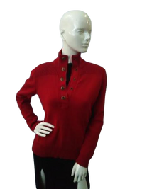 Ralph Lauren 70's Red Sweater Size Small SKU000041