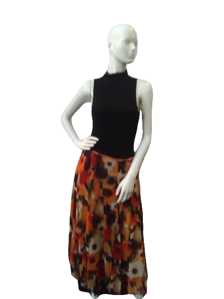Jones New York Woman Collection Black Red Tan Brown Skirt Size 20W (SKU000041)