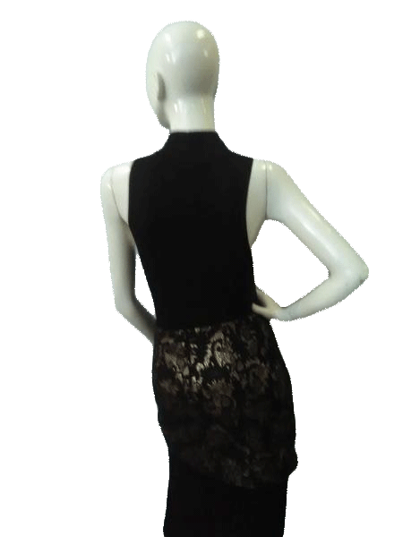 Bebe Gold And Black Print Skirt Size 4 (SKU000041)