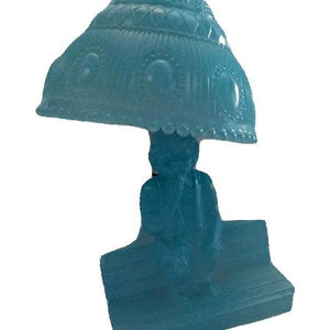 Vintage Retro Light Blue Glass Lamp  (SKU 000177 )