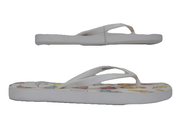 SHOES Betsey Johnson Logo Flip Flops Size 7 SKU 000130