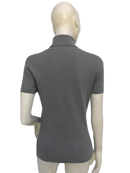 Anne Klein Gray Turtle Neck Top Size Medium SKU 000180