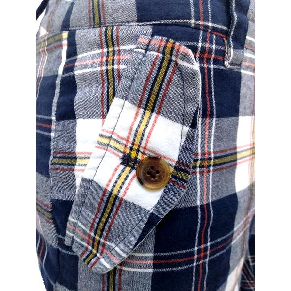 J. Crew Blue Red White Yellow Plaid Shorts Size 0 SKU 000180