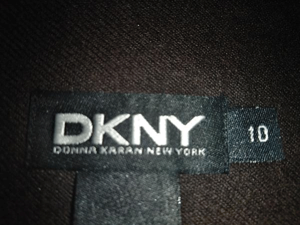 DKNY Peat Color (Brown Black) Wrap Skirt  NWT Size 10 (SKU 000180)