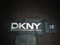 DKNY Peat Color (Brown Black) Wrap Skirt  NWT Size 10 SKU 000180
