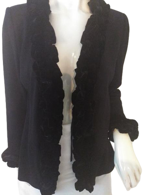 St. John Knit Evening Blazer Black Size 8 SKU 000256-7