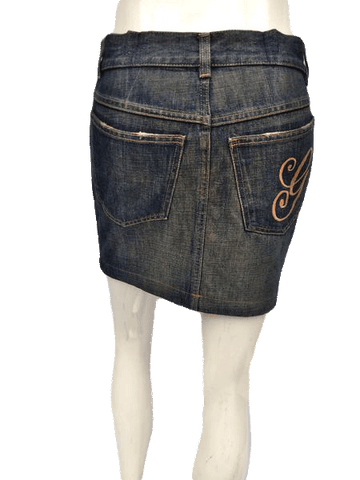Gucci Denim Mini Skirt Size Small (SKU 000163)