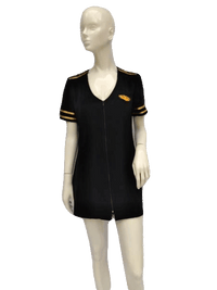 Ladies Mile High Captain Black and Gold Dress Size L SKU 000156