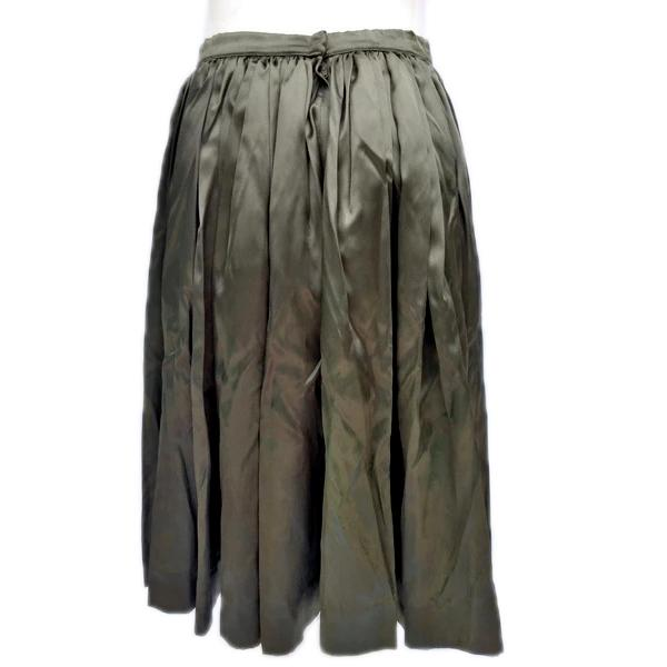 Gorgeous Satin A-Line Olive Green Skirt SKU 000156