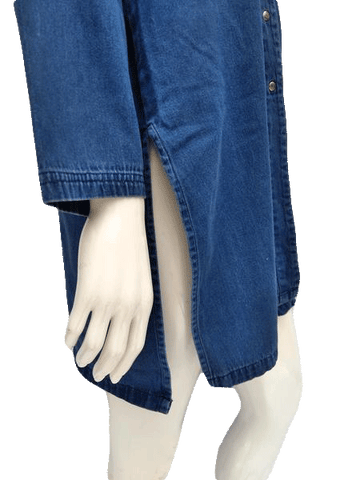 Misty Harbor Denim Blue Jean Tunic Shirt Size 1x (SKU 000156)