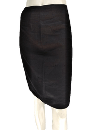 Black Silk Skirt Size 10 SKU 000133