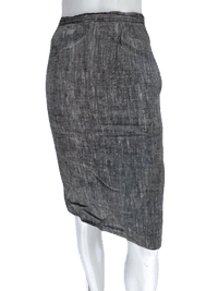 Tweed Black and Grey Just Below the Knee Power A-Line Skirt Size 2 SKU 000133