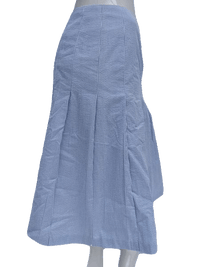 Brooks Brothers Blue and White Seersucker Pleated Ladies Skirt Size 2 SKU 000133