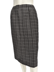 Kasper Black and White Check Just Below the Knee Length A-Line Skirt Size 6 (SKU 00133)