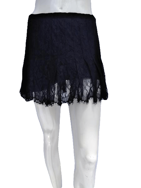 BCBG MAXAZRIA Black Lace Mini Skirt Size 4 SKU 000133