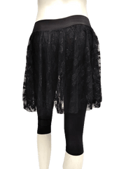 Guess by Marciano Black Nylon Lace Shirt with Spandex Capris Size XS (SKU 000133)