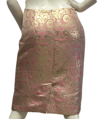 Sunny Leigh 90's Skirt Pink With Gold Size 2 SKU 000026