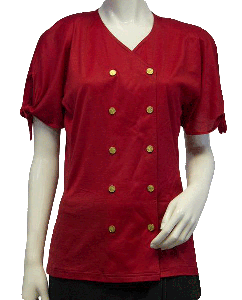 Red Tie Down SS Top Size 36 (SKU 000087)