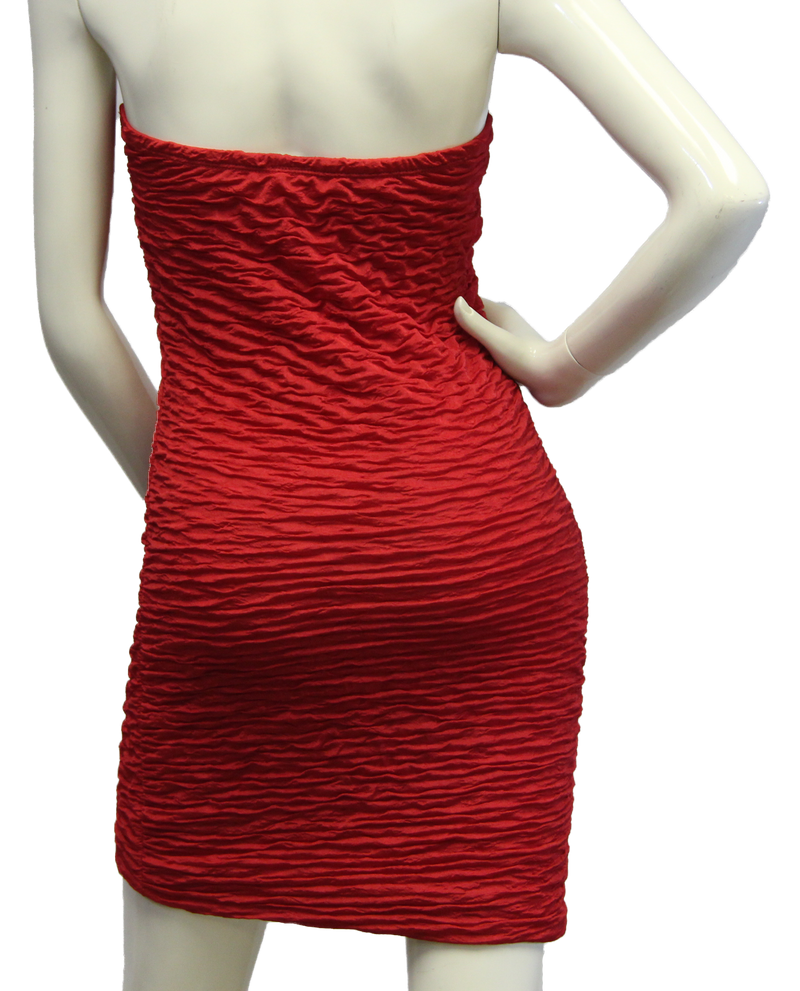 Red Salsa Dress Size M/L (SKU 000087) - Designers On A Dime - 4