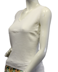 Chico's Innocence White Sweater Tank Top Size 1 (SKU 000069) - Designers On A Dime - 2
