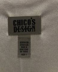 Chico's Innocence White Sweater Tank Top Size 1 (SKU 000069) - Designers On A Dime - 4