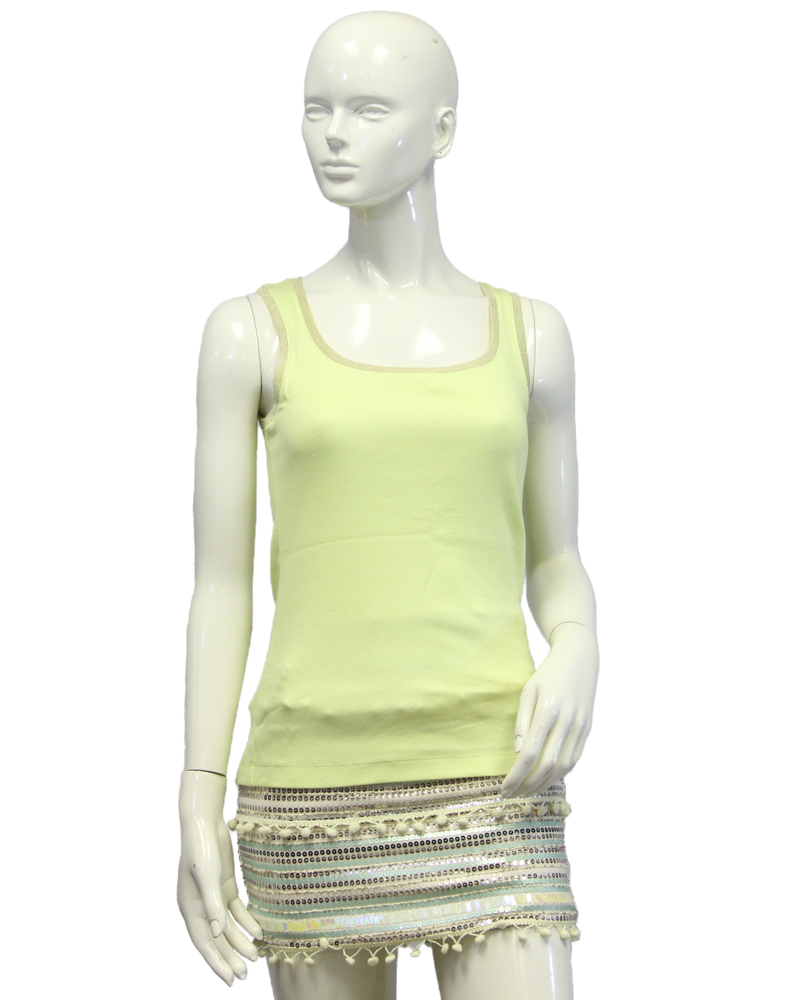 Chico's Neon Yellow Tank Top Size 0 (SKU 000069) - Designers On A Dime - 1