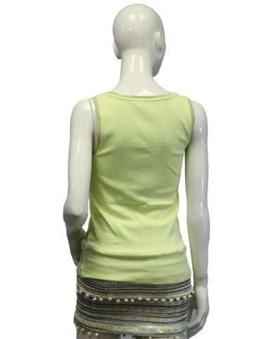 Chicos Neon Yellow Tank Top Size 0 (SKU 000069)
