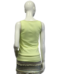 Chico's Neon Yellow Tank Top Size 0 (SKU 000069) - Designers On A Dime - 3