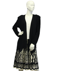 Dream Drape Black Travelers Blazer Size XL  (SKU 000046) - Designers On A Dime - 1