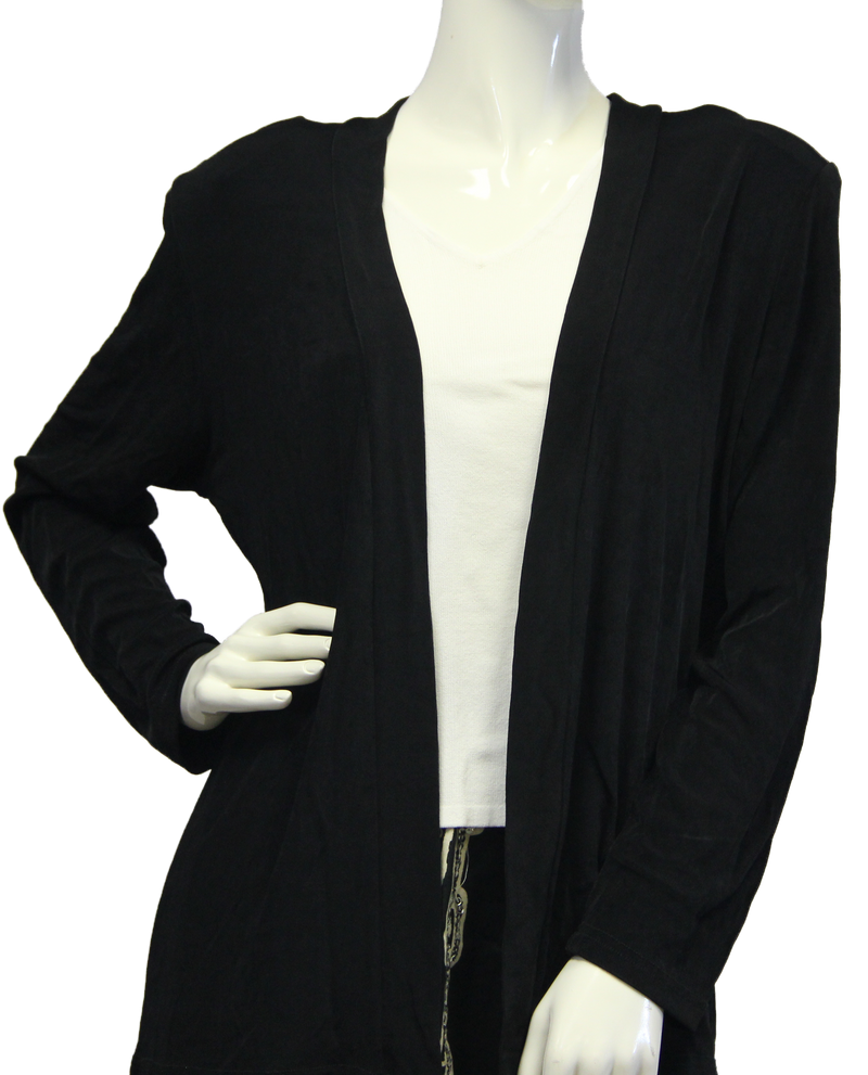 Dream Drape Black Travelers Blazer Size XL  (SKU 000046) - Designers On A Dime - 2